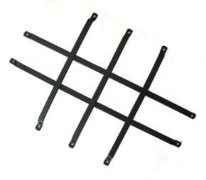 grille anti effraction alu noire pour hublot rectangulaire c2m avignon. Black Bedroom Furniture Sets. Home Design Ideas