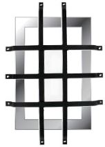 grille anti effraction alu noire pour hublot rectangulaire c2m avignon. Black Bedroom Furniture Sets. Home Design Ideas