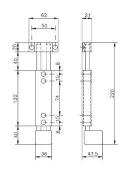 verrou plaquer noir 1589 cl c2m avignon. Black Bedroom Furniture Sets. Home Design Ideas