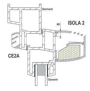 entr e d 39 air isola 2 autor glable acoustique 39 db 22 m. Black Bedroom Furniture Sets. Home Design Ideas
