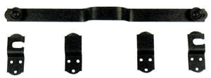 barre de s curit verrouillage 450mm alu noir pour volet battant c2m avignon. Black Bedroom Furniture Sets. Home Design Ideas