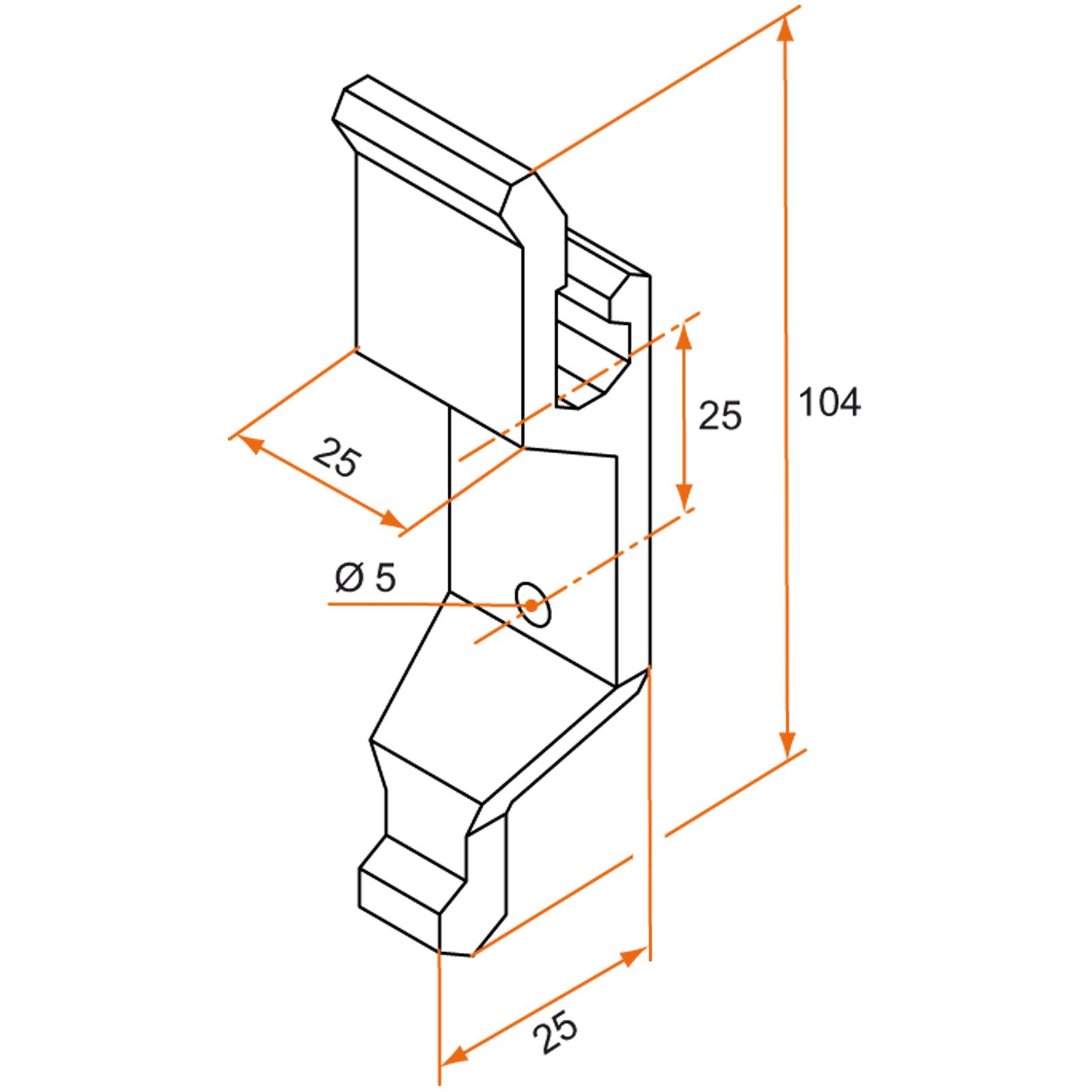 support composite gamme standard poign u00e9e espagnolette