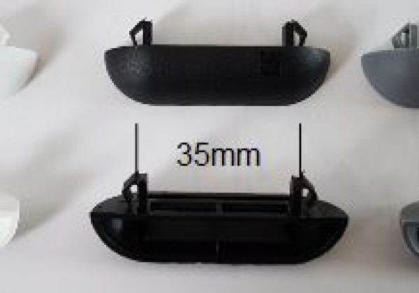 Pare Tempête Noir à Clapet 54 X 13mm Pour Fenêtre Alu C2m Avignon