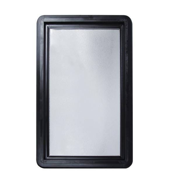 Grille anti effraction alu noire pour hublot rectangulaire c2m avignon - Porte de garage anti effraction ...