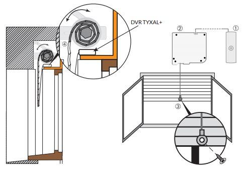 d tecteur de volet roulant radio dvr delta dore c2m avignon. Black Bedroom Furniture Sets. Home Design Ideas
