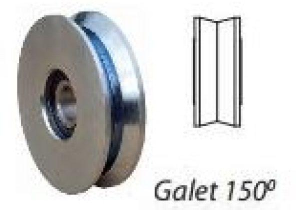 Galet inox 150°