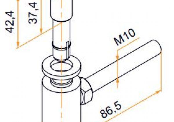 gond scellement chimique inox 14mm pivot noir tige m10 80mm l c2m avignon. Black Bedroom Furniture Sets. Home Design Ideas