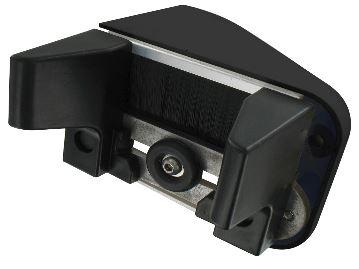 G che alu pour portail coulissant non motoris paisseur 30 65mm noir c2m avignon for Portail noir alu