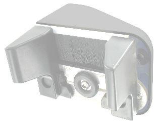 Gâche Alu Pour Portail Coulissant Non Motorisé épaisseur 30 à 65mm Blanc